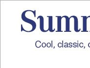 Summertime Blues - Cool, classic, chic - Blue is this summer's must-have color color and we've got you covered.