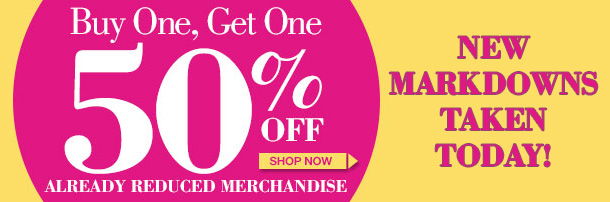 Clearance Special! Save MORE on Already Reduced Merchandise! SHOP NOW!