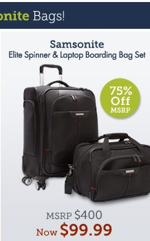 Elite Spinner & Laptop Boarding Bag Set. Shop Now.