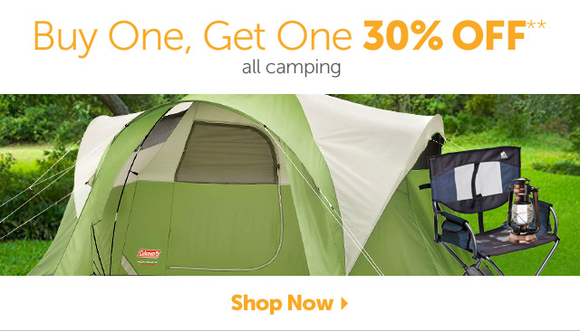Buy One, Get One 30% OFF** all camping - Shop Now