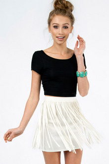 MY FRINGE MINI SKIRT 33