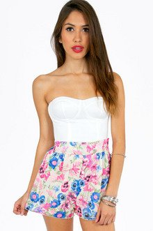 FLORAL SWING SHORTS 28