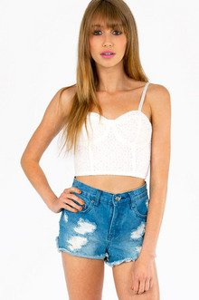 EYELET YOU GO CROP TOP 32
