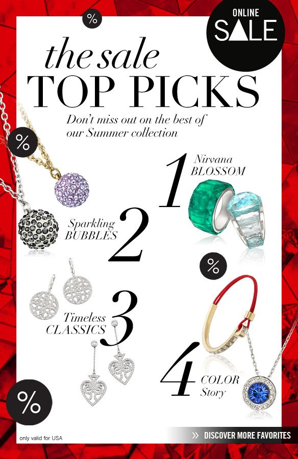 The SALE TOP PICKS