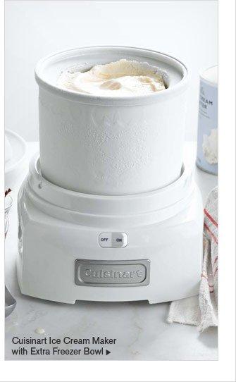 Cuisinart Ice Cream Maker with Extra Freezer Bowl