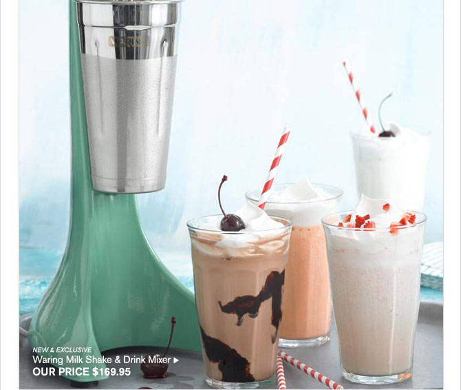 New & Exclusive - Waring Milk Shake & Drink Mixer - OUR PRICE $169.95