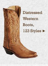 Womens Distressed Western Boots on Sale