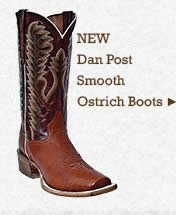 Mens Dan Post Smooth Ostrich Boots on Sale