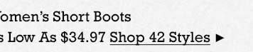 Womens Short Boots on Sale