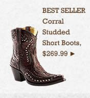 Womens Corral Studded Short Boots on Sale