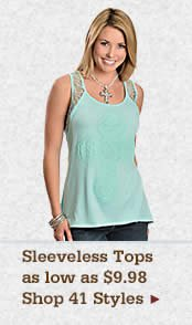 Womens Sleeveless Tops on Sale