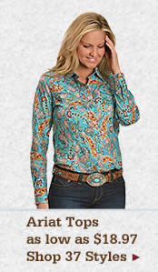 Womens Ariat Tops on Sale