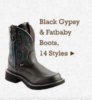 Womens Black Gypsy and Fatbaby Boots on Sale