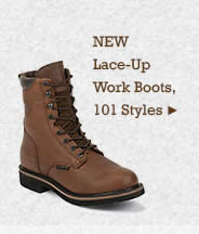 Mens Lace Up Work Boots on Sale