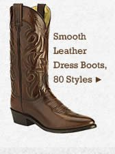 Mens Smooth Leather Dress Boots on Sale