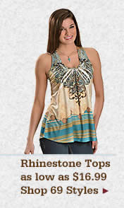Womens Rhinestone Tops on Sale