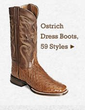 Mens Ostrich Dress Boots on Sale