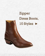 Mens Zipper Dress Boots on Sale