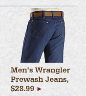 Mens Wrangler Prewash Jeans on Sale