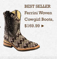 Womens Ferrini Woven Boots on Sale