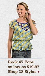 Womens Rock 47 Tops on Sale