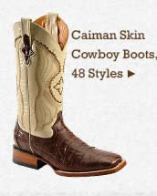 Mens Caiman Skin Boots on Sale