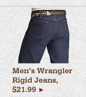 Mens Wrangler Rigid Jeans on Sale