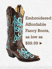 Womens Embroidered Affordable Fancy Boots on Sale