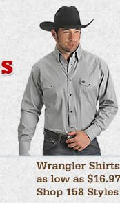 Mens Wrangler Shirts on Sale