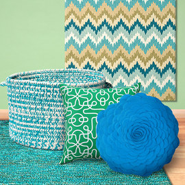 Cool Hues: Blue & Green Textiles
