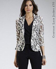 Contrast Lace Jacket