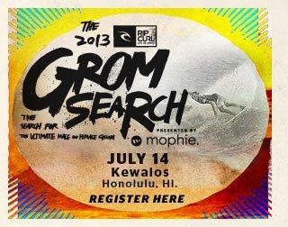 Rip Curl Gromsearch - July 14, Kewalo's, Honolulu, HI.