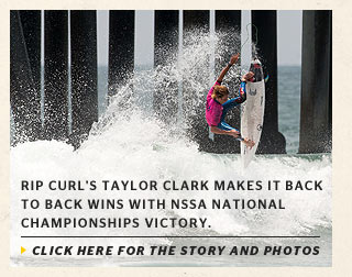 Rip Curl's Taylor Clark Makes it Back to Back Wins with NSSA National Championships Victory.