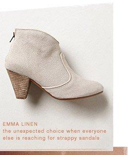 Shop the Emma Linen bootie.