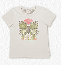 Women's Butterfly Creamy Tee