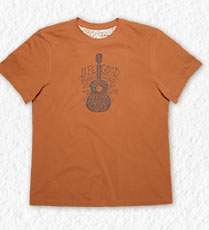 Men's Remember the Music Guitar Creamy Tee