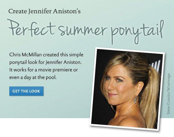 Get Jennifer Aniston's ponytail look