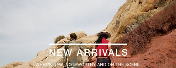 New arrivals! What's new, noteworthy and on the scene.