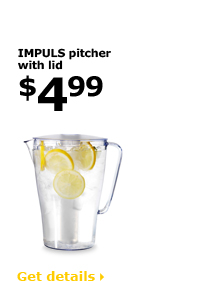 IMPULS pitcher with lid $4.99