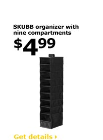 SKUBB organizer with nine compartments $4.99