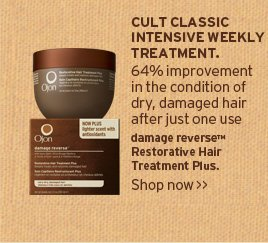CULT  CLASSIC INTENSIVE WEEKLY TREATMENT 64 percent improvement in the  condition of dry damaged hair after just one use damage reverse  Restorative Hair Treatment Plus SHOP NOW