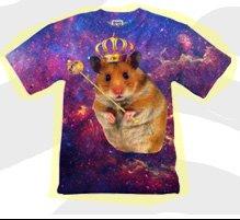 Mr. Gugu & Miss Go King Hamster Print T-Shirt