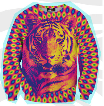 Mr. Gugu & Miss Go Crazy Tiger Print Sweater