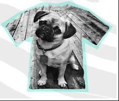 Mr. Gugu & Miss Go Pug Print T-Shirt