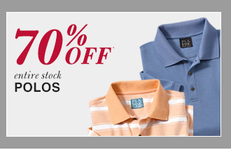 70% Off* Polos
