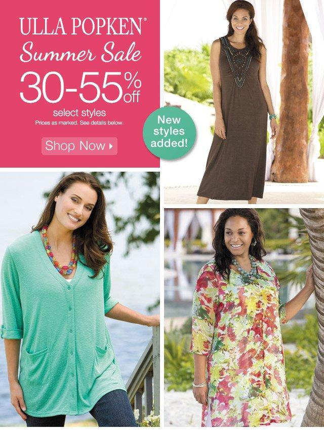 ULLA POPKEN® Summer Sale 30-55% off select styles