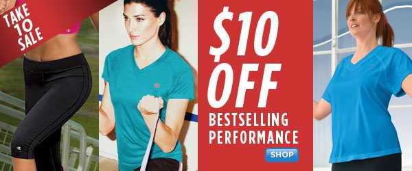 SHOP Women's Performance $10 Off