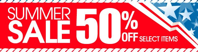 Summer Sale 50% OFF Select Items