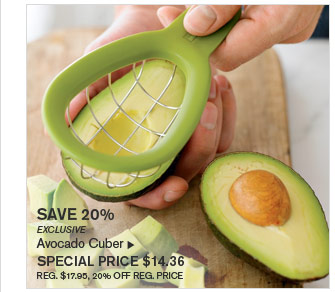 SAVE 20% - EXCLUSIVE - Avocado Cuber - SPECIAL PRICE $14.36 (REG. $17.95, 20% OFF REG. PRICE)