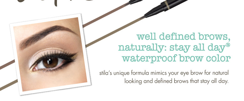 stila's unique formula mimics your eye brow for natural looking and defined brows that stay all day.